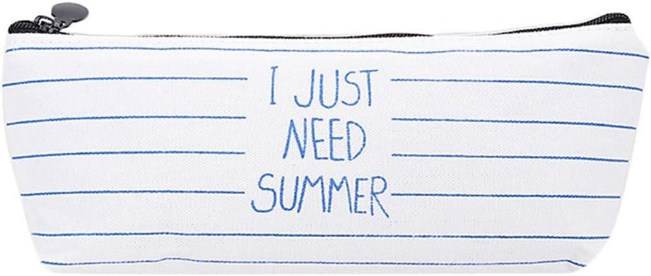 Lumanuby 1 x Estuche Lápices funda Fácil Inglés Palabra I just Need Summer Lienzo Papel de carta Pencil Case Lápiz Funda Makeup Funda, Estuche Serie: Amazon.es: Hogar