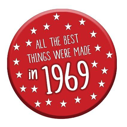 Botón de 50 cumpleaños, edad 50 hoy 76 mm, chapa divertida ...