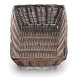 Tablecraft (1472) 9'' Rectangular Brown Handmade Basket [Set of 12]