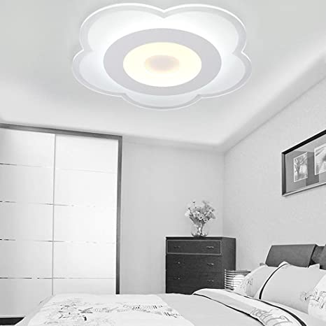 LED Acrílico Lámpara de techo Moderno Redondo Lámpara de ...