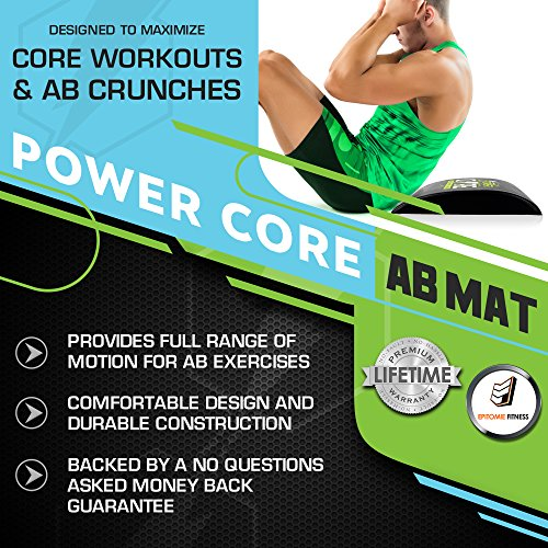 Power Core Ab Mat & Sit Up Pad Ab Mats For Sit Ups & Ab Cruncher Workouts