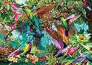 Buffalo Games - Hummingbird Garden - 500 Piece Jigsaw Puzzle with Hidden Images