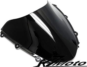Blakc Double Bubble Windscreen Windshield ABS For Honda CBR600RR 2005-2006 New