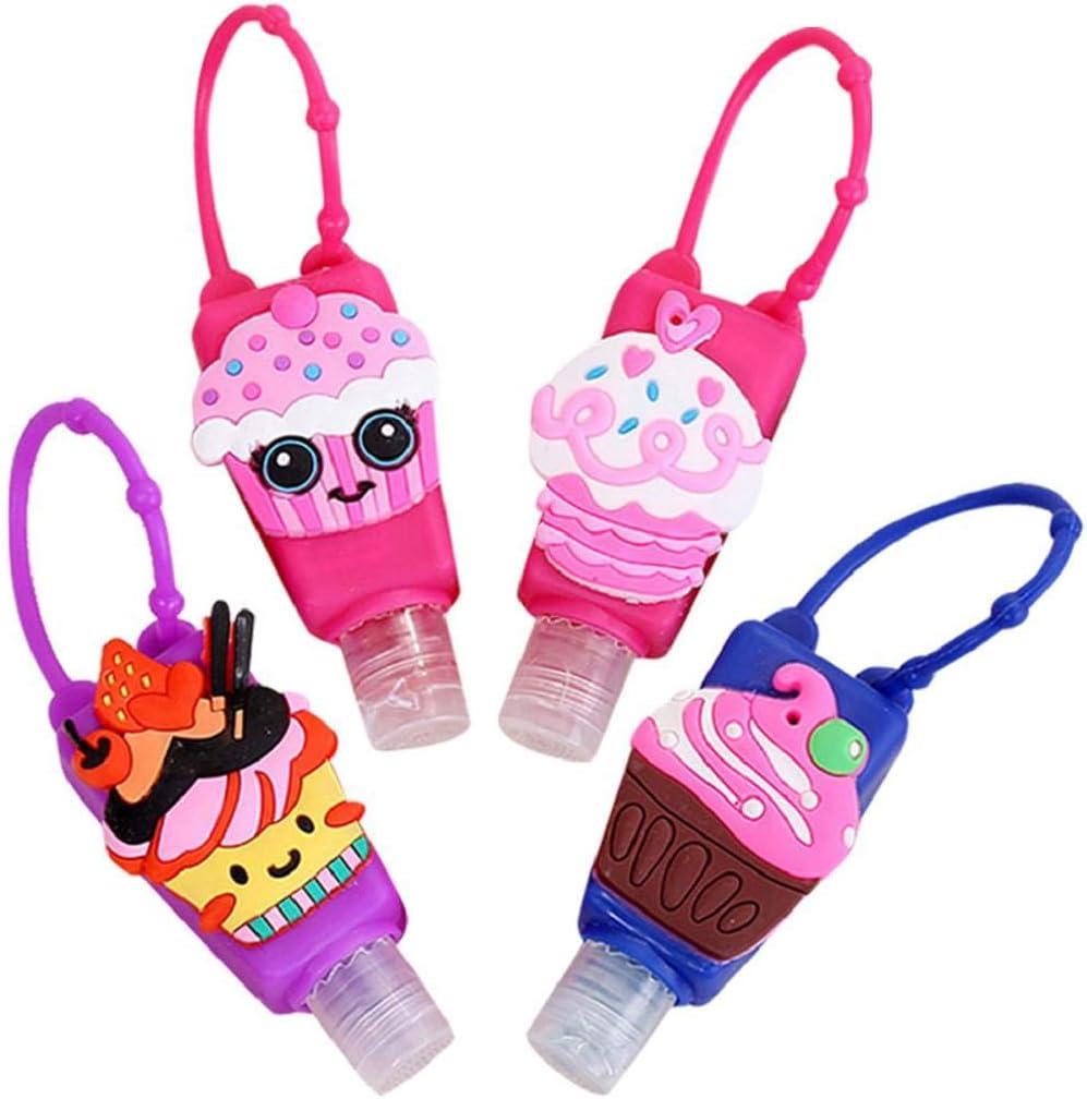 heekpek Portátiles Botellas de Viaje para Niños 4 Piezas 30ml Reutilizable Prueba de Fugas Rellenable Contenedor Botellas de Viaje para Champu y Lociones
