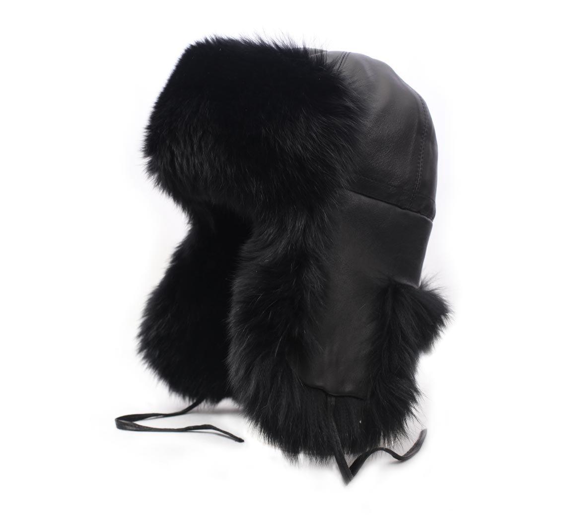 Karibu Women's Bertrina Leather Trapper Hat Size 54 cm by Karibu