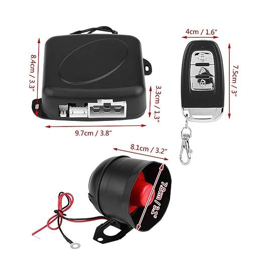 KIMISS universal Sistema de alarma de coche Arranque remoto ...