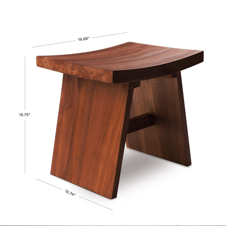 Amazing Hydroteak Maui Original Teak Bath Stool Teak Wood Bath Chair For Spa Pool Bathroom Coated With Inzonedesignstudio Interior Chair Design Inzonedesignstudiocom