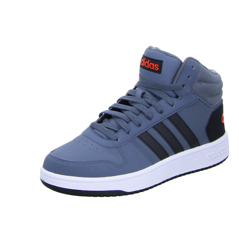 Bleu (Onix Cnoir Hirere) adidas Hoops 2.0 Mid, Chaussures de Basketball Homme 47 1 3 EU