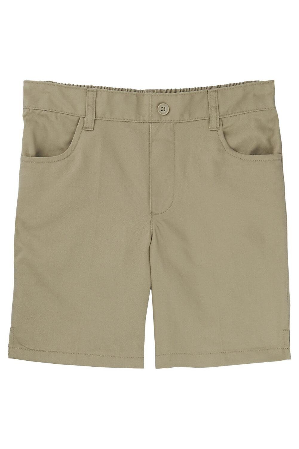 French Toast Little Girls' Pull-on Short, Khaki, 4