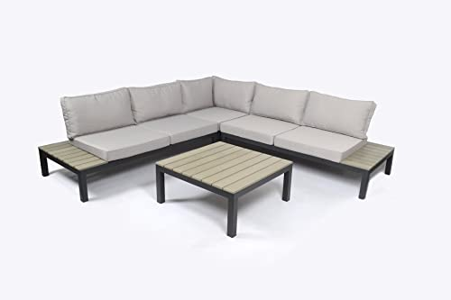 Tortuga Outdoor Sky-KD Lakeview 4 Piece Set Sectional Outdoor Seating