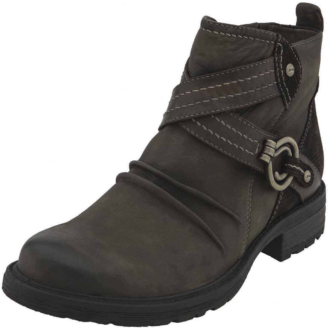 Earth Womens Laurel Leather Almond Toe Ankle Combat Boots B06WRS3YLC 9 B(M) US|Stone Vintage Leather