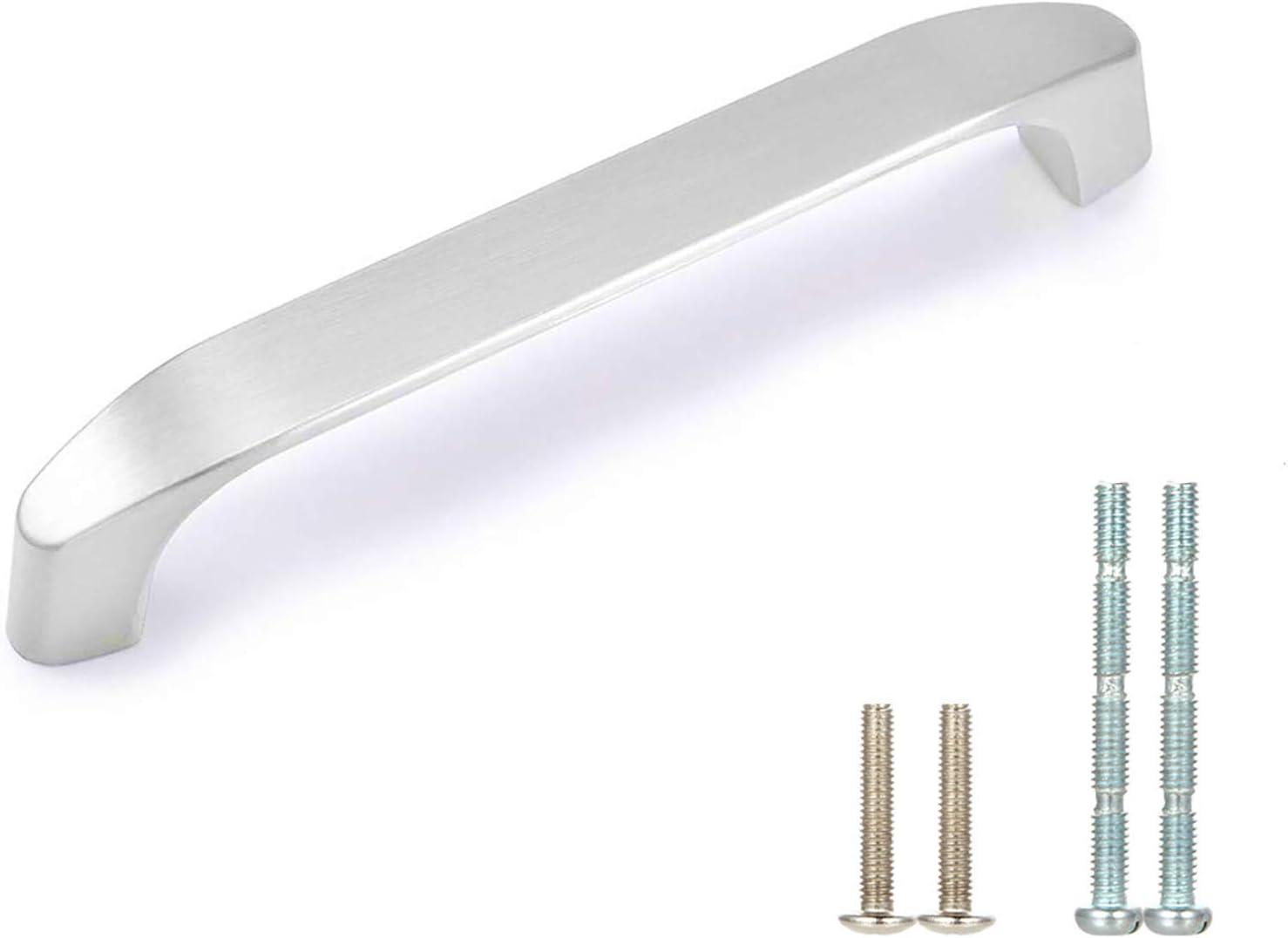 "WEAVERBIRD 96mm Cabinet Handles Kitchen Hardware Drawer Pulls - 3-3/4"" Hole Centers-Stain Nickel - Pack of 10"