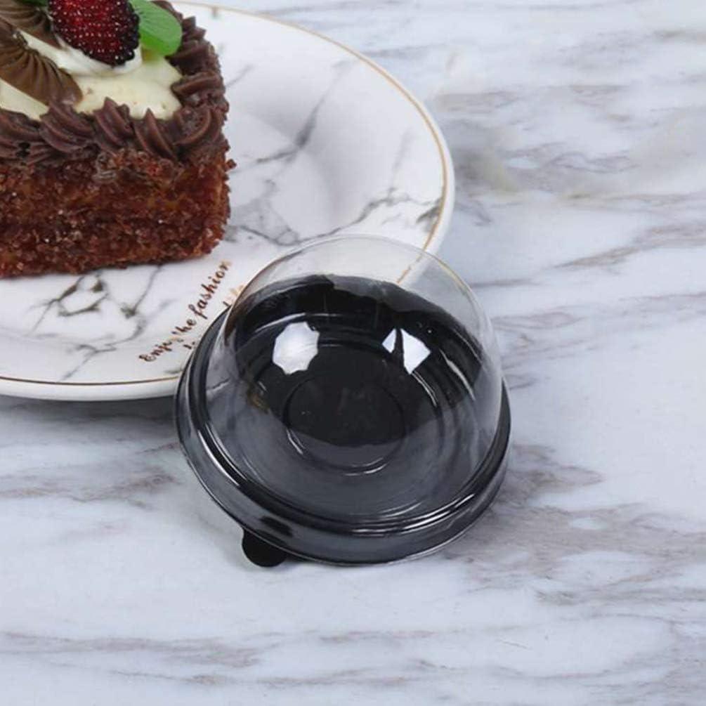 Cabilock 200 Piezas de Pl/ástico Transparente Mini Caja de Pastel Galletas Muffins Caja de Domo Muffin Pod Domo Muffin Caja de Un Solo Contenedor Caja de Regalos de Cumplea/ños de Boda