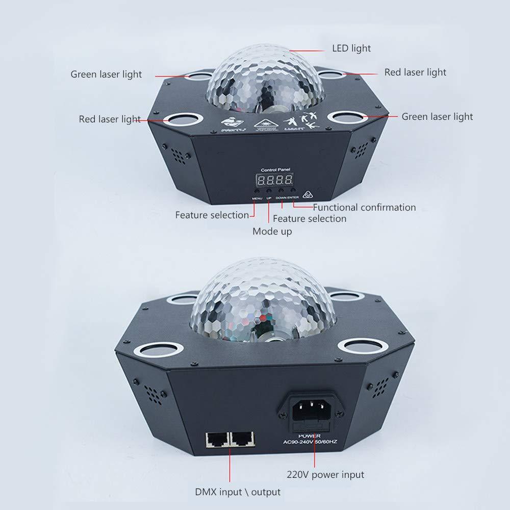 Disco Ball, DJ Disco Stage Party Lights Proyector LED activado por ...