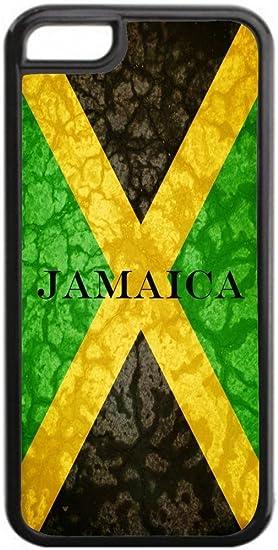 Amazon.com: Jamaican Flag Black Iphone 5C plastic case ...