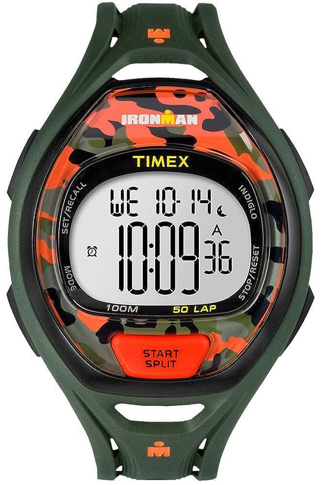 Timex Mens iron man INDIGLO élégant chronographe alarme camo vert TW5M01200
