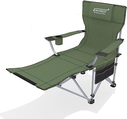 Al Aire Libre Plegable Silla, Reclinables Lounge Chair Portátil Butaca Trasera Silla de Playa Silla Cama de Siesta-A L162xH38cm(64x15inch): Amazon.es: Jardín