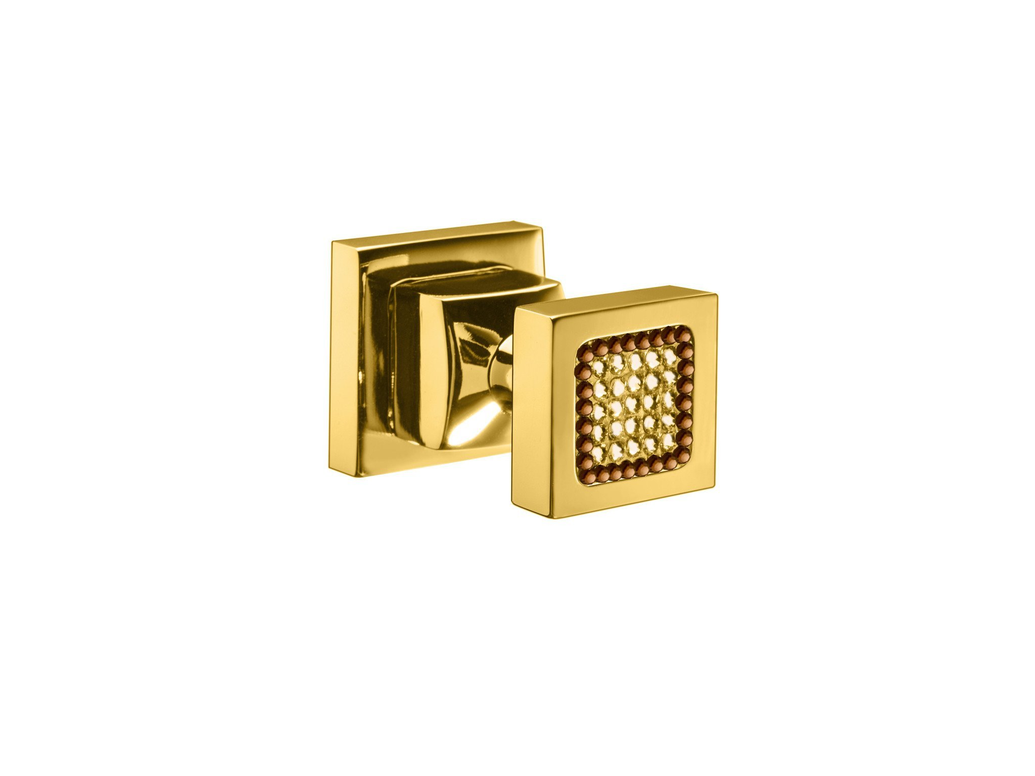 Starlight Brass Towel Robe Hook for Bathroom Towel Holder / Coat Hanger W/ Swarovski Crystals (Polished Gold)