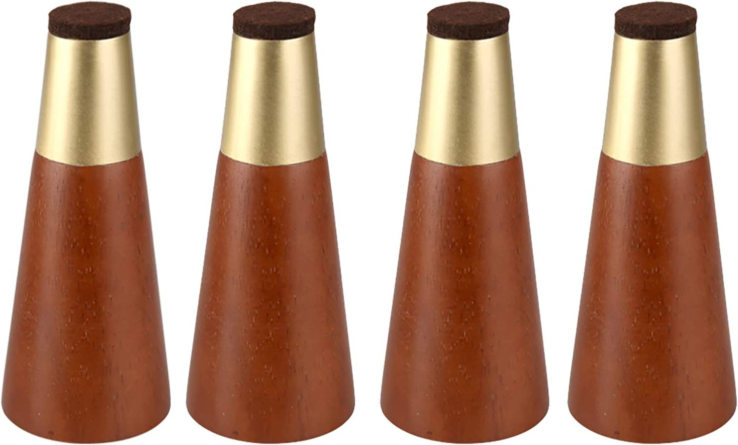 4pcs Furniture Legs, Modern Solid Wood Legs for Furniture, Tapered Pyramid Style, for Sofa, Couch, Bed, Coffee Table, Send Installation Screws