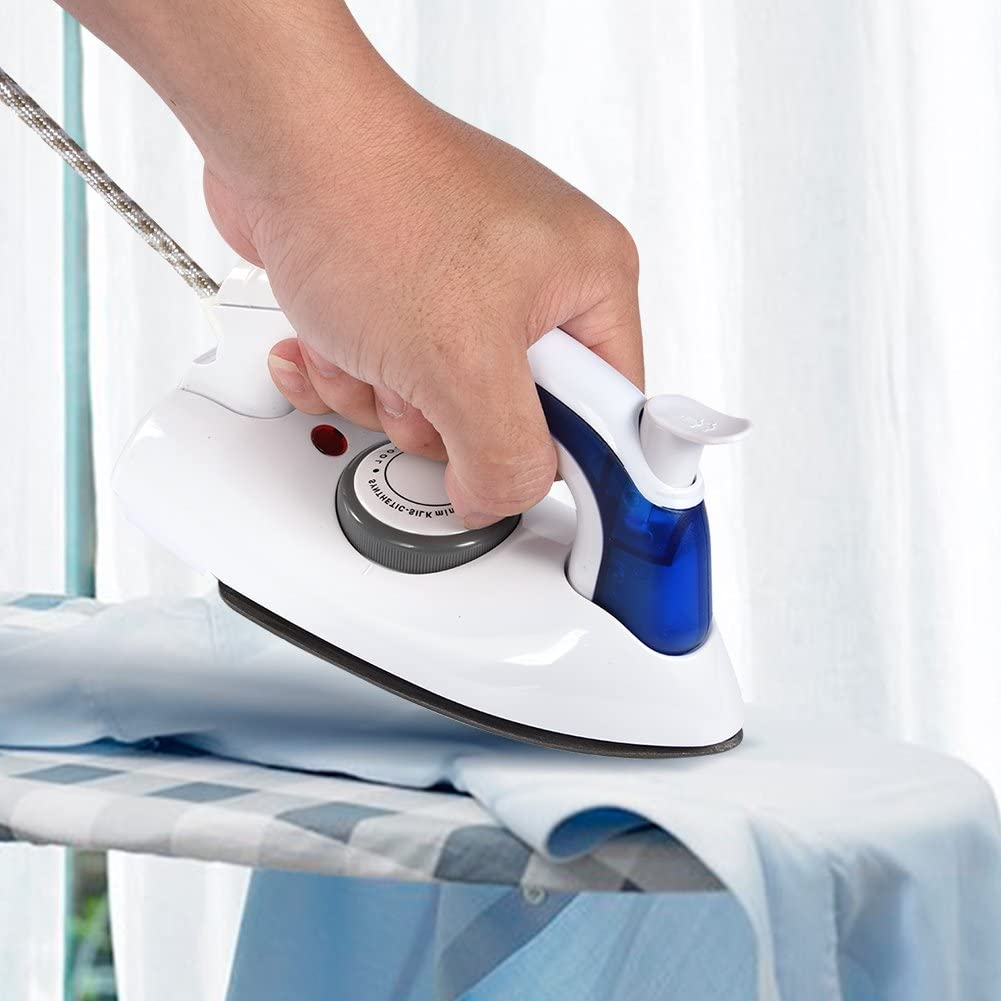 Lightweight Portable Steam Iron with Temperature Control ca Foldable Mini Travel Steam Iron with Non-Stick Stainless Steel Soleplate.