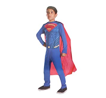 Disfraz de Superman de DC Comics para niños, Azul, Medium: Amazon ...