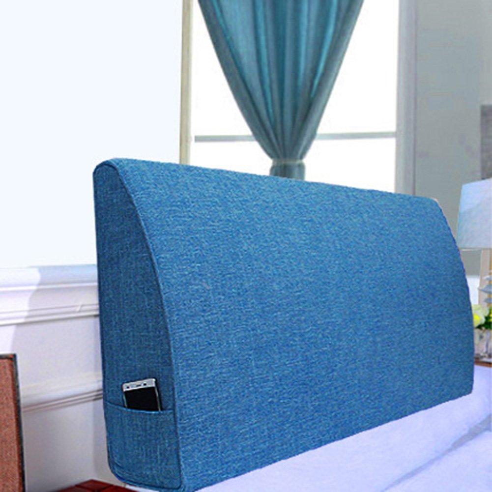QIANGDA クッション ベッドの背もたれヘッドボードなし 疲れを和らげる ベッドで読む、 厚さ10/12 / 15cm、 6種類の無地、 9種類のサイズ 利用可能 ( 色 : ブルーワン , サイズ さいず : 150 x 12 x 50cm ) B07B9FVGKP 150 x 12 x 50cm|ブルーワン ブルーワン 150 x 12 x 50cm