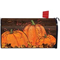 Briarwood Lane Rustic Pumpkin Patch Fall Magnetic Mailbox Cover Autumn Primitive Standard