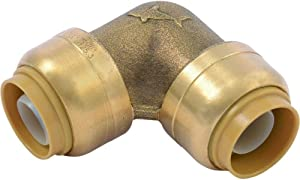 SharkBite U256LFCP 3/4 Inch 90 Degree Elbow Push to Connect Pipe Fitting, 10 count, Brass