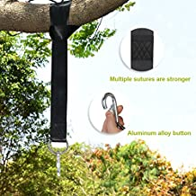 Bfull Swing Straps,Tree Swing Hanging kit with Safer Lock Snap Carabiner Hooks,Easy & Fast Swing Hanger Installation, 5 Feet Per One and Supports up to 2000LBS ideal for Swing, Hammock, Tire, Chair.