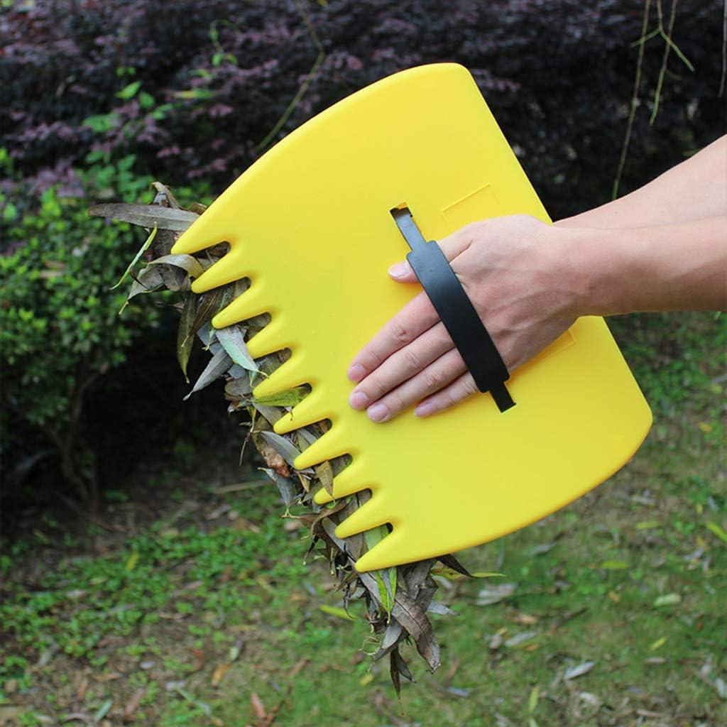 Gwxevce 2Pcs Paar Garten Hof Kunststoff Pick Up Leaf L/öffel M/üllsammler Hand Rechen Gelb