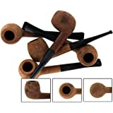 5 Pk Unfinished Straight Briar Tobacco Pipes