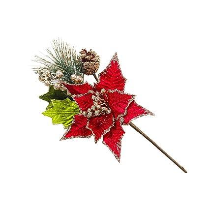 Amazon.com: SSYUNO Hojas de adorno de Navidad, hermosas ...
