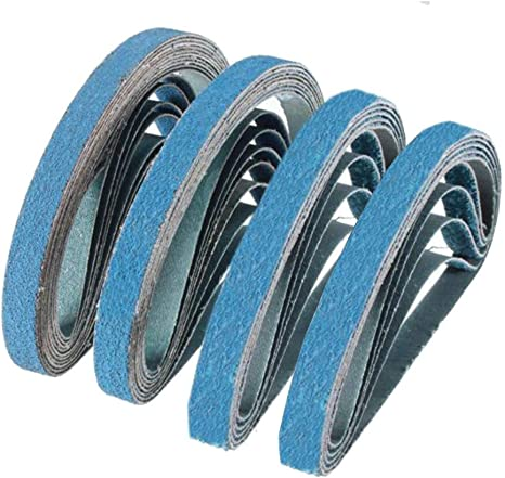 """12 Zirconia 60 grit 1//2/"""" x 18/"""" Cloth Abrasive Belts Air File Germany"""