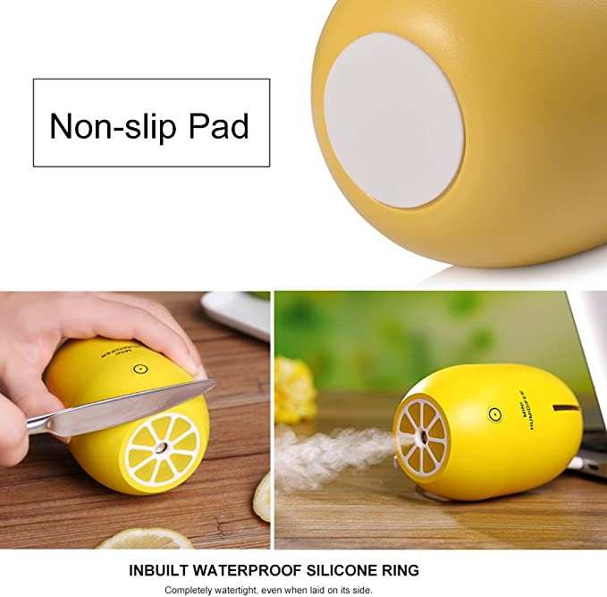 Ledgle 180ml Mini Humidificador portátil USB Night Light Purificador de aire Lemon: Amazon.es: Hogar
