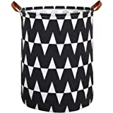 HIYAGON Large Sized Storage Baskets with Handle,Collapsible & Convenient Home Organizer Containers for Kids Toys,Baby Clothin