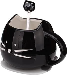 Cute Funny Black Cat Coffee Tea Milk Ceramic Mug Cup 12 oz Christmas Birthday Best Gift