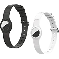 Silicon Lightweight Pet Collar Tracker Holder Compatible with Apple AirTag 2021,2 Pack Adjustable and Waterproof Air Tag…