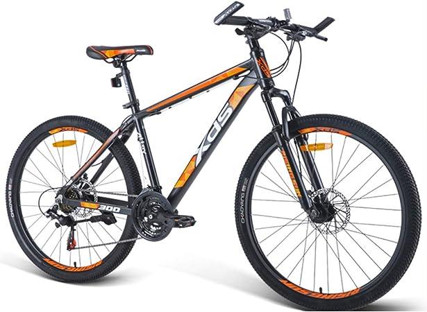 NENGGE 26 Pulgadas Bicicleta Montaña, 21 Velocidades Bicicleta De Montaña Portátil, Doble Freno Disco Bicicleta De Montaña Portátil, Adulto Hombres Mujeres Bicicleta,Naranja,17 Inches: Amazon.es: Hogar