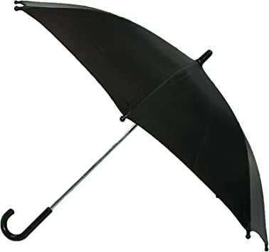 Black CTM Kids/' Solid Color Stick Umbrella