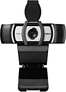 Logitech C930c HD Smart 1080P Webcam with Cover for Computer Zeiss Lens USB Video Camera 4 Time Digital Zoom Web cam (Asian Model)
