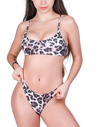9c56cf442bfa Amazon.com: Mapletina Two Pieces High Waisted for Women, Printed Ruffle  Bikini Swimwear Junior Bikini Swimsuits for Teen Girls: Clothing