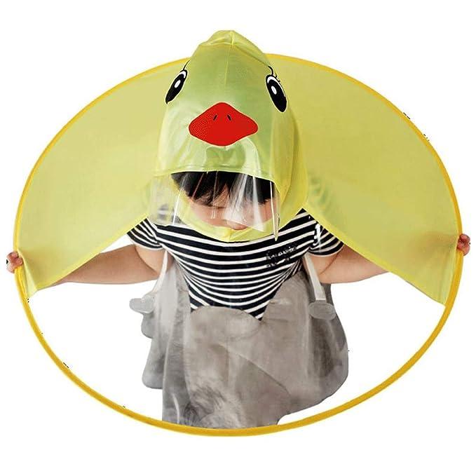 top-rated original latest discount biggest selection Cute Kid's Duck Raincoat Children Umbrella Cartoon Cloak Hooded Raincoat  for Boys Girls