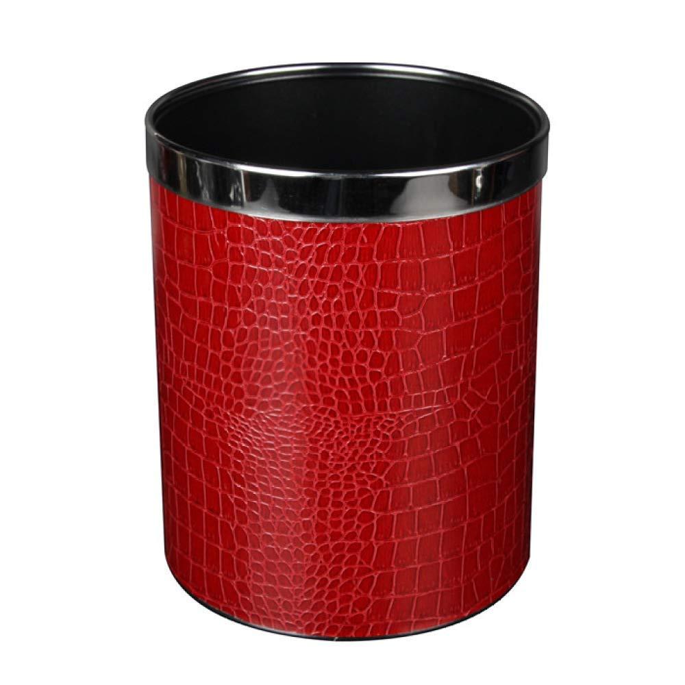 Poubelle de Stockage m/énager Peinture Type dh/ôtel MWPO Poubelle Ancienne Articles de Maroquinerie en Relief Recyclage de la Poubelle /écologique Poubelle rouge-22.5cm * 22.5 Couche Simple