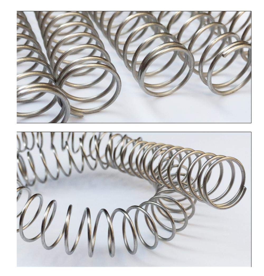 SUS Compression Spring 1.5-10-300mm-1-10-300mm 304 Stainless Steel Compression Spring Compression Spring Anti-Rust and Anti-Corrosion Spring Wire Thickness 1.0//1.2//1.5