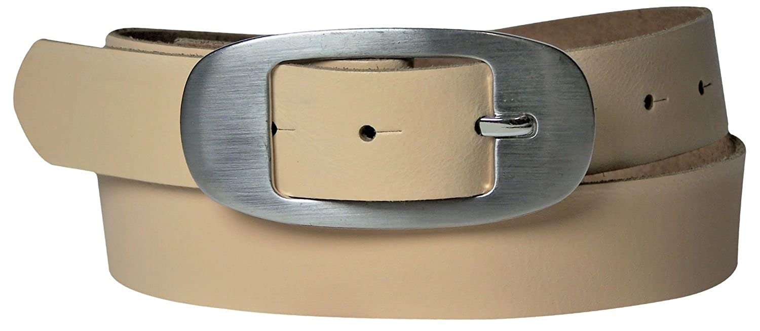 FRONHOFER Inexpensive belt in summery colors leather belt with oval buckle ~1