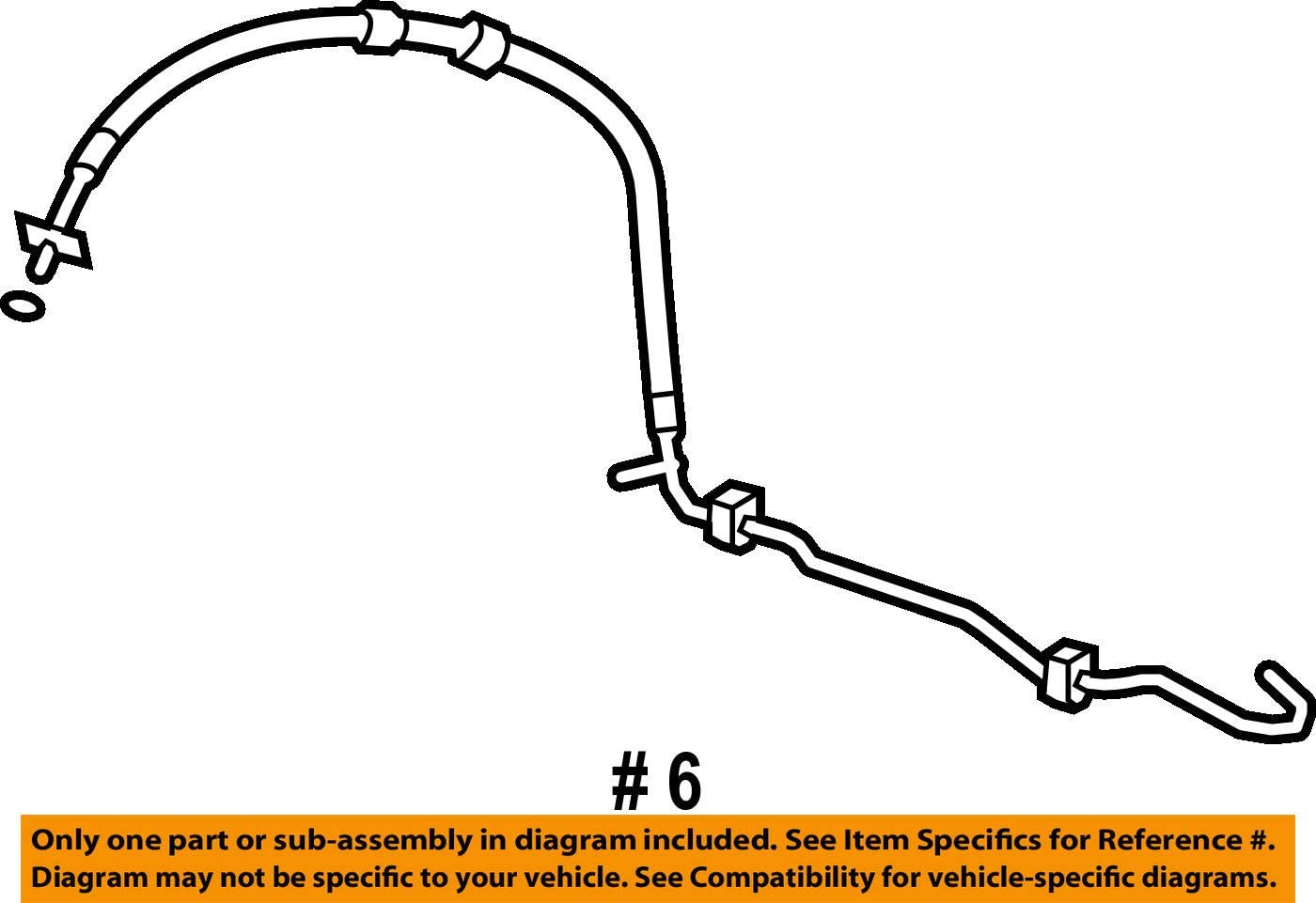 Genuine Honda 53713-SWA-A03 Power Steering Feed Hose