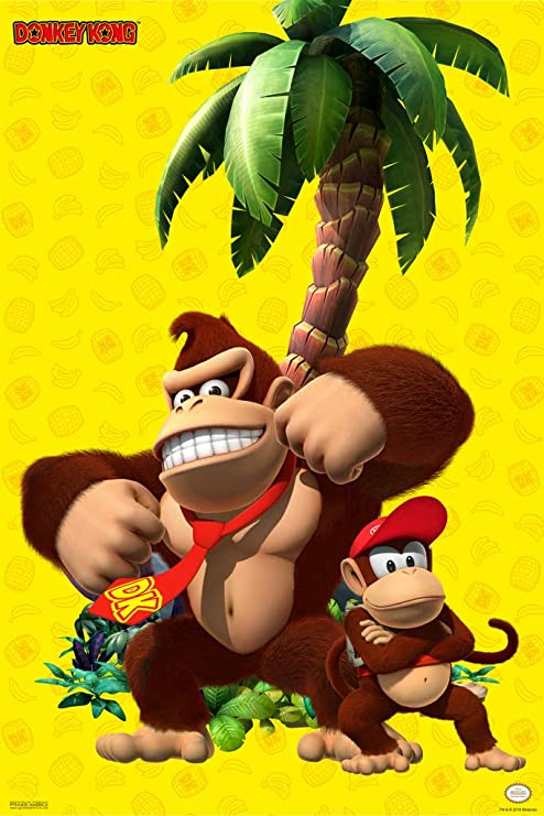 Pyramid America Donkey Kong Country Returns Video Game Framed Poster 14x20 inch