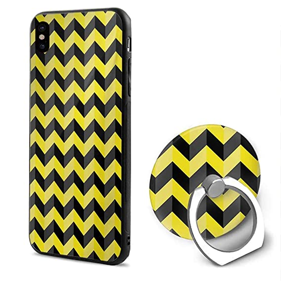 timeless design c7a2d 7083b Amazon.com: Yellow Chevron iPhone x Cases,Black and Yellow Chevron ...