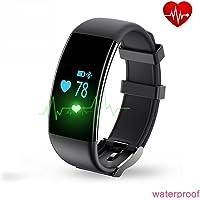 Baoduohui Rastreador De Ejercicios Reloj De Pulsera De Inteligente D21 Bluetooth 4.0 Ritmo Cardíaco Y Calorías Quemadas Sport Monitor con Podómetro Smart Brazalete para iOS Android