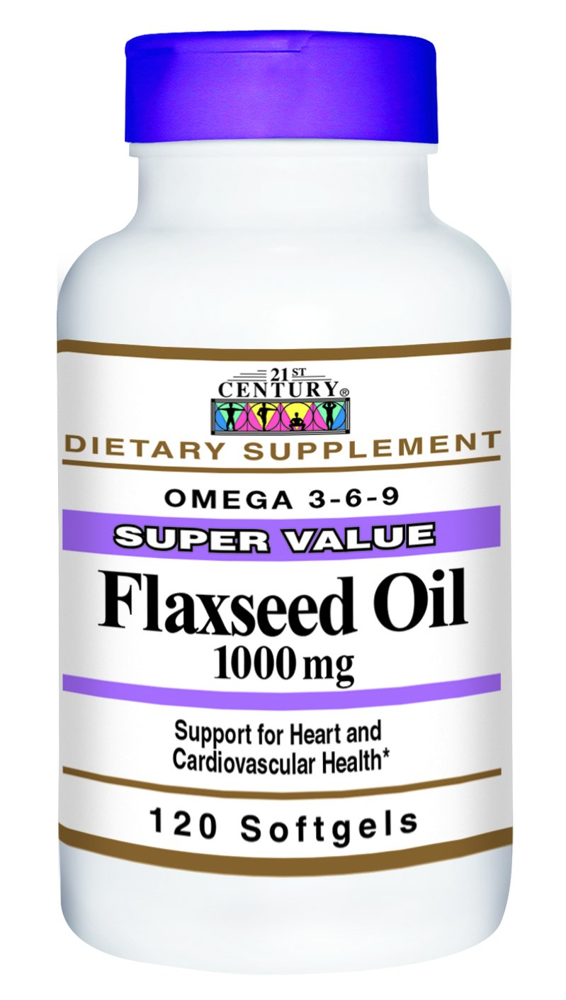 21st Century Flaxseed Oil 1000 mg Softgels, 120 Count